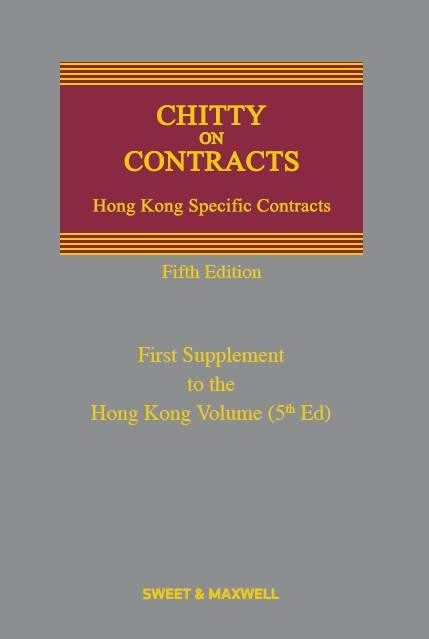 Chitty on Contracts, Hong Kong Specific Contracts, Supplement to the Fifth Edition