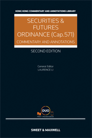 Securities and Futures Ordinance (Cap.571): Commentary and Annotations